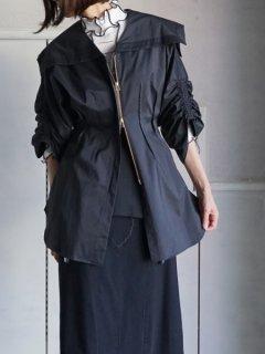 AKIKOAOKIアキコアオキ Sailor zip blouse