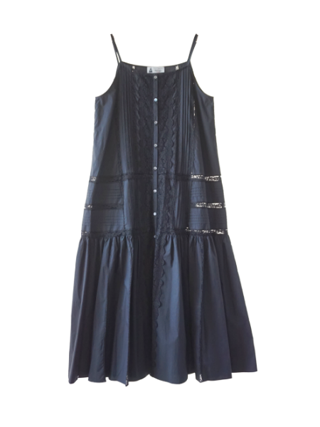 leur logette o-ganic cotton dress black