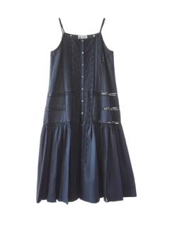 leur logette ルールロジェット organic cotton typewriter dress BK