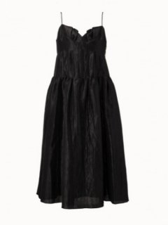 leur logette ルールロジェット pearl cloth Dress BK