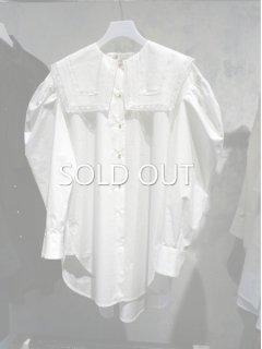 leur logette ルールロジェット organic cotton blouse square collar