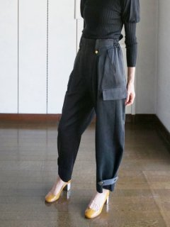 leur logette ルールロジェット couture satin pants BK
