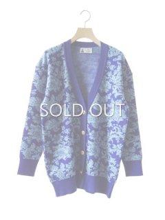 leur logette ルールロジェット wool jacquard cardigan blue