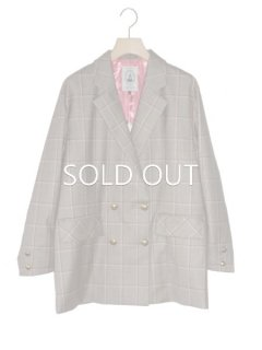 leur logette ルールロジェット funny check wool jacket