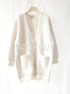 leur logette ルールロジェット mohair nylon cardigan off-white