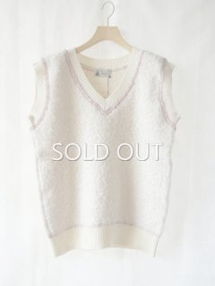 leur logette ルールロジェット mohair nylon vest off-white