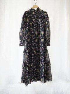 leur logette ルールロジェット motif flower print dress BK