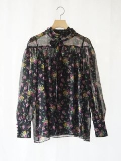 leur logette ルールロジェット motif flower print blouse BK