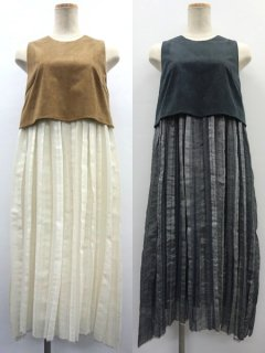 muller of yoshiokubo ミュラーオブヨシオクボ Dry Pleats Dress ★sale