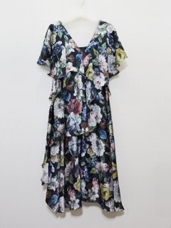 muller of yoshiokubo ミュラーオブヨシオクボラッフルドレス flarel dress (blossom)(BK) ★sale 30%OFF