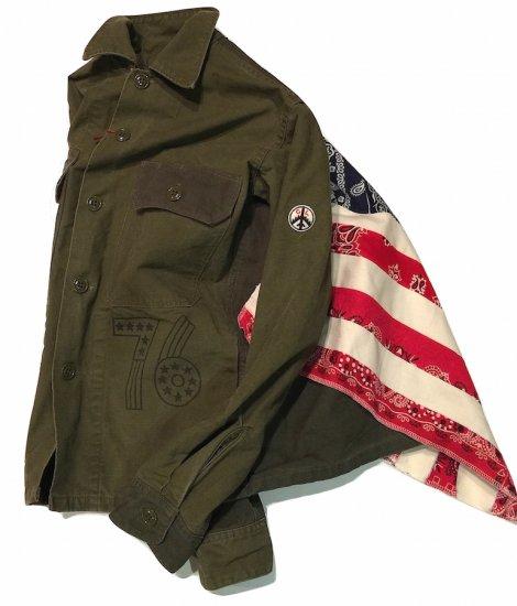 MORE SALE40%0FF!!!キャルオーライン (cal o line) hippie fatigue shirt/ヒッピーファティーグシャツ CL171-007 - エンシニータス