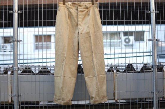 デッドストック (dead stock) 50's-60's French army M52 chino trousers / チノパン - エンシニータス
