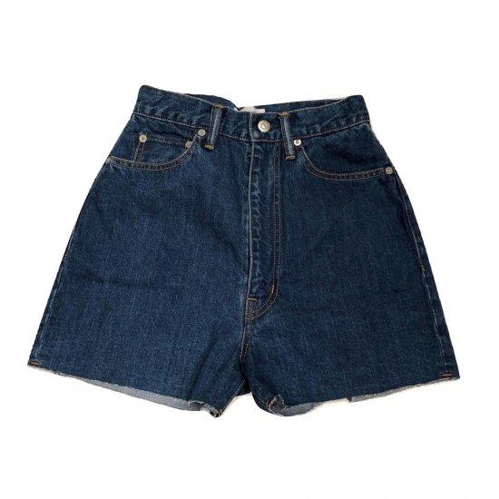 ホリデイ (holiday) high waist denim shorts / ショーツ hd17102526 indigo - エンシニータス