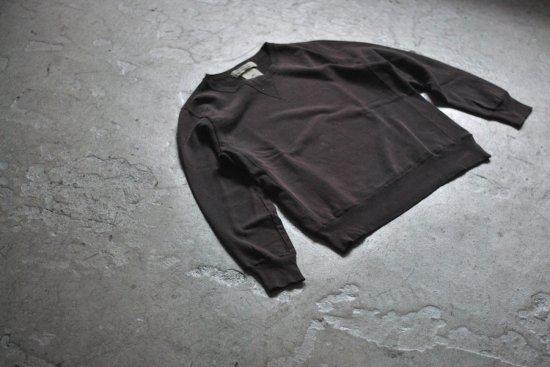 レミレリーフ (remi relief) スペシャル加工裏毛クルー / スウェット RN18233066 brown - エンシニータス