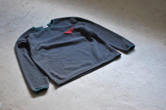 キャルオーライン (cal o line) light weight fleece crew neck / プルオーバー CHARCOAL CL182-064 - エンシニータス