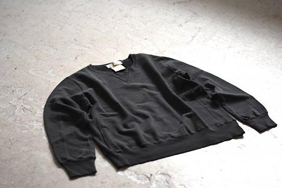 レミレリーフ (remi relief) スペシャル加工裏毛クルー / スウェット RN6001SDC black - エンシニータス
