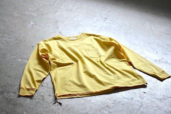 キャルオーライン (cal o line) エンシニータス別注 solid color l/s  pocket tee  / ロンT yellow - エンシニータス