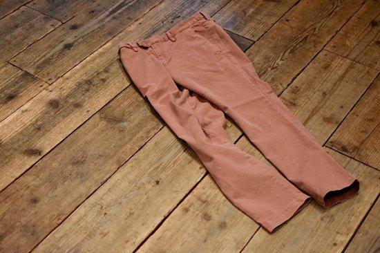 レミレリーフ (remi relief) chino stretch color pants / チノストレッチカラーパンツ plum rn3001sdc - エンシニータス