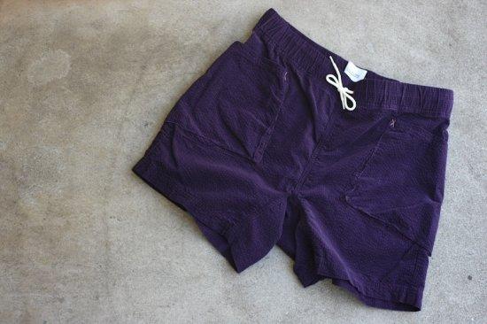 キャルオーライン (cal o line) corduroy easy shorts / イージーショーツ purple - エンシニータス