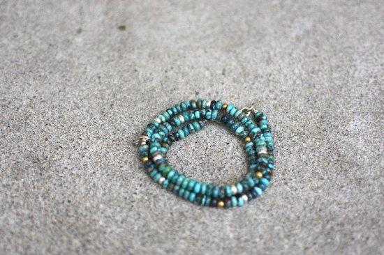 アカシックツリー ( akashic tree ) matural stone necklace & bracelet  / ネックレス & 3重ブレスレット TURQUIOSE - エンシニータス