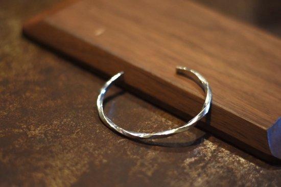 アカシックツリー ( akashic tree ) silver 1000 twist bracelet  / バングル ブレスレット シルバー  - エンシニータス