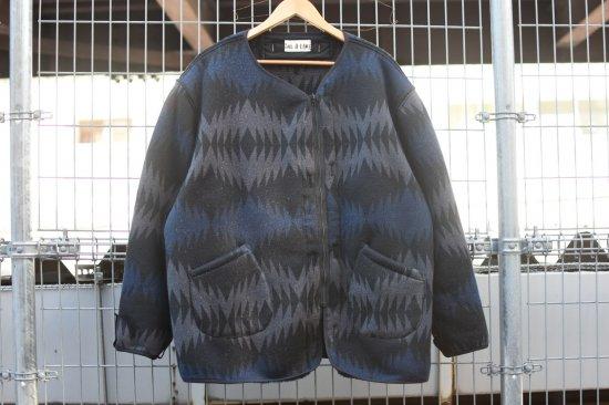 キャルオーライン (cal o line) jacquard pile liner cardigan / ライナー カーディガン black - エンシニータス