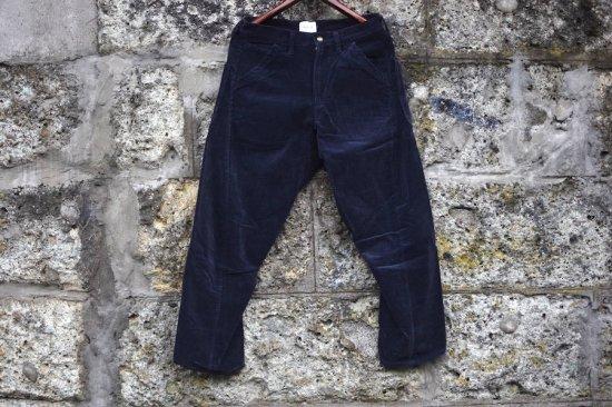 キャルオーライン (cal o line) corduroy comfort painter pants / ペインターパンツ navy - エンシニータス