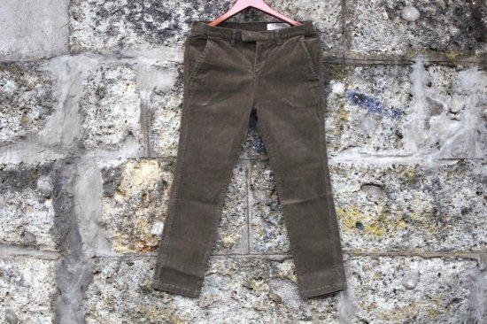 レミレリーフ (remi relief) stretch corduroy pants / ストレッチコーデュロイパンツ rn191253181 khaki  - エンシニータス