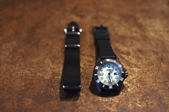 ヴァーグウォッチ ( vague watch ) diver's son / 腕時計 アンティークウォッチ ダイバーズウォッチ black × light green - エンシニータス