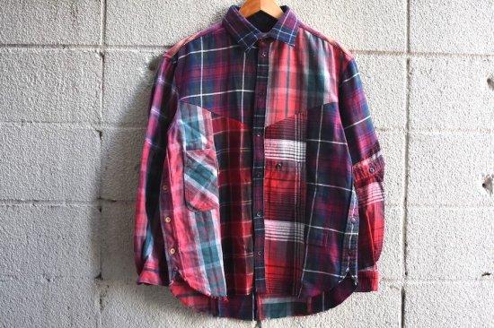 インク (ink) irregular / チェックシャツ ink19aw-11 red tone - エンシニータス