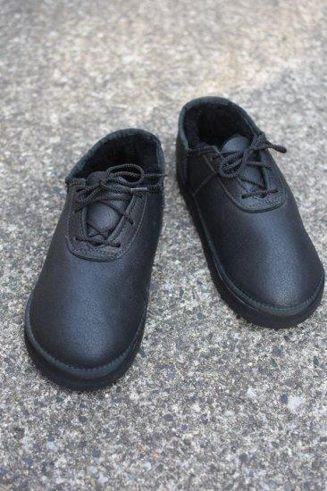 サンダルマン ( sandalman ) エンシニータス別注sheep shoes / シープスキンシューズ ムートンシューズ black - エンシニータス