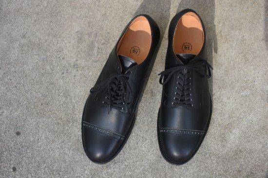 メーカーズ ( makers ) punched cap 9th ltd carf / カーフレザー キャップトゥー 革靴 black  - エンシニータス