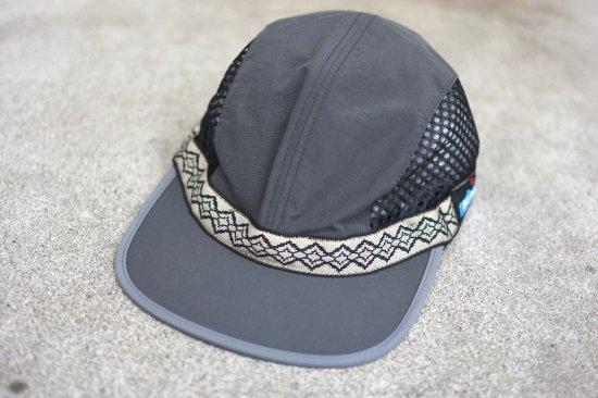 キャルオーライン (cal o line) kavu vented strap cap  / カブー コラボ ストラップメッシュキャップ black - エンシニータス