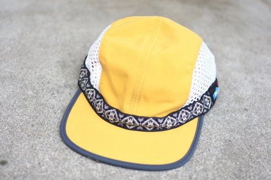 キャルオーライン (cal o line) kavu vented strap cap  / カブー コラボ ストラップメッシュキャップ yellow - エンシニータス