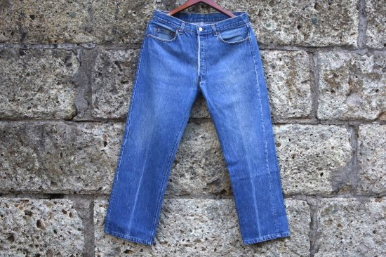 <img class='new_mark_img1' src='https://img.shop-pro.jp/img/new/icons1.gif' style='border:none;display:inline;margin:0px;padding:0px;width:auto;' />リーバイス ( levi's ) made in usa 501 denim pants / デニム パンツ w34 l30 - エンシニータス