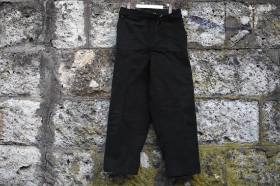 デッドストック (dead stock) 40's French army M-38 motorcycle pants black / フランス軍 モーターサイクル パンツ 黒染め - エンシニータス