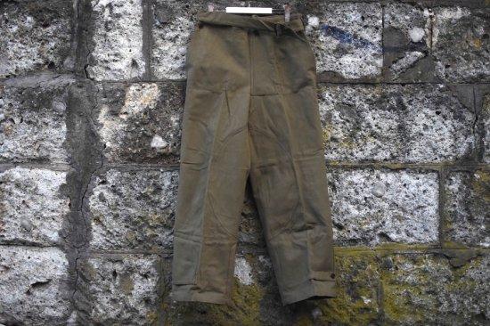 デッドストック (dead stock) 40's French army M-38 motorcycle pants / フランス軍 モーターサイクル パンツ - エンシニータス