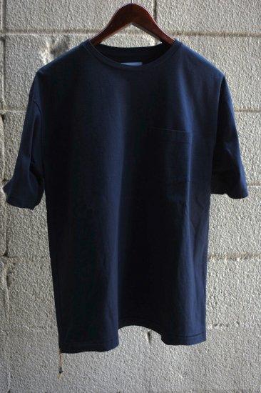 キャルオーライン (cal o line) エンシニータス別注  solid color s/s  pocket tee  / ポケットT BLACK - エンシニータス