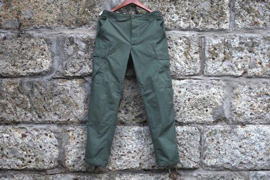 デッドストック (dead stock) 90's us army BDU camouflage green 483 cargo pants / アメリカ軍 カーゴ パンツ - エンシニータス