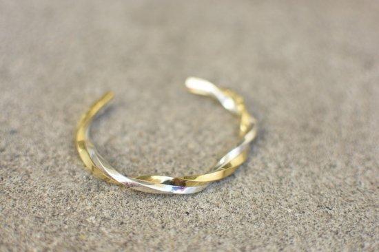 アカシックツリー ( akashic tree ) silver gold twist bracelet  / バングル ブレスレット シルバー × ゴールド - エンシニータス