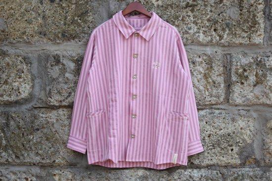アレキサンダーリーチャン (Alexander Lee Chang) strp seo-l sht / シャツ pink AC-022002 - エンシニータス