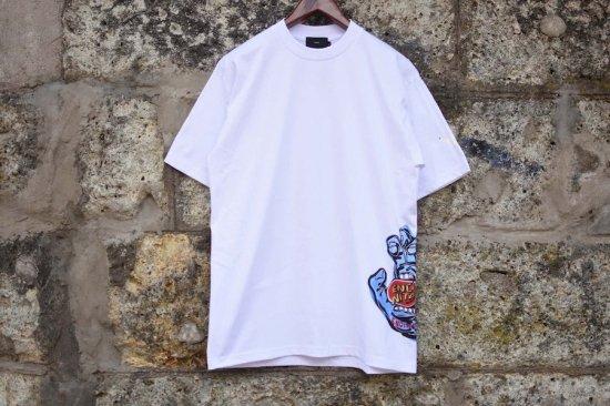 ベンズ [ bend(s) ] encinitas 別注 hand s/s tee / Tシャツ white 20ssenc0061 - エンシニータス