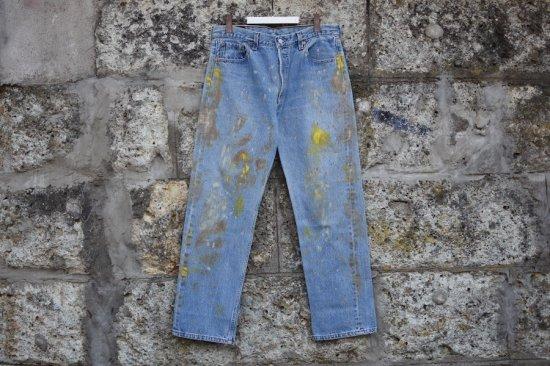 リーバイス ( levi's ) 90's used 501 ( the painting ) denim pants / デニム パンツ w36 l30 - エンシニータス