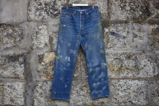 リーバイス ( levi's ) 90's used 501 ( the painting ) denim pants / デニム パンツ w33 l30 type1 - エンシニータス