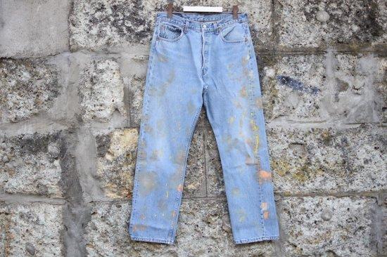 リーバイス ( levi's ) 90's used 501 ( the painting ) denim pants / デニム パンツ w33 l30 type2 - エンシニータス