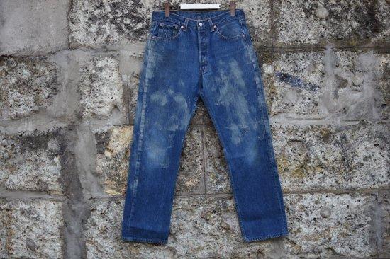 リーバイス ( levi's ) 90's used 501 xx ( the painting ) denim pants / デニム パンツ w34 l33 - エンシニータス