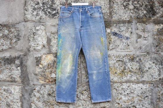 リーバイス ( levi's ) 00's used 501 ( the painting ) denim pants / デニム パンツ w34 l30 - エンシニータス