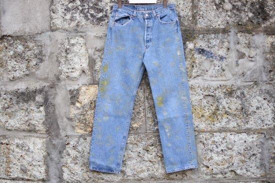 リーバイス ( levi's ) 90's used 501 ( the painting ) denim pants / デニム パンツ w34 l32 - エンシニータス