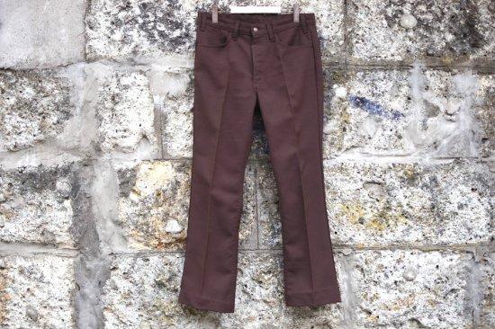 リーバイス ( levi's ) used 80's sta prest pants / スタープレスト brown - エンシニータス