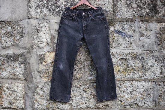 リーバイス ( levi's ) used 501 black denim pants / デニム パンツ type1 w33 l30 - エンシニータス